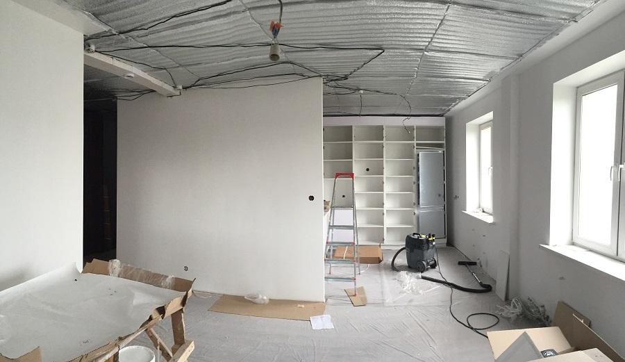 Дизайн 3-х комнатной квартиры «Современный стиль» - середина ремонта