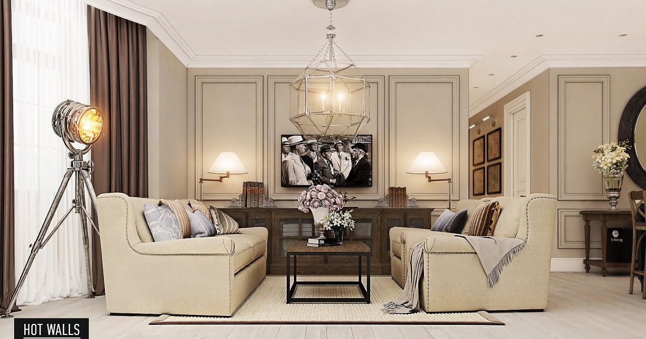 Дизайн интерьера коттеджа «Президентский люкс»