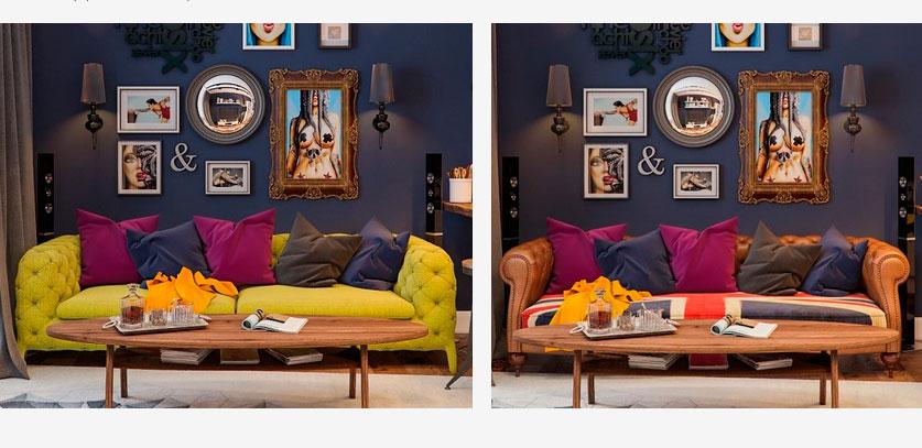 Холостяцкая квартира в стиле «Pop-Art»: подбираем цвет дивана