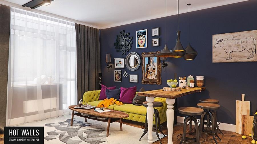 Холостяцкая квартира в стиле «Pop-Art»: окончательный вид