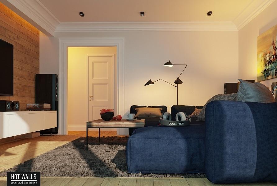 Дизайн проект квартиры в ЖК «Москва»: спальня