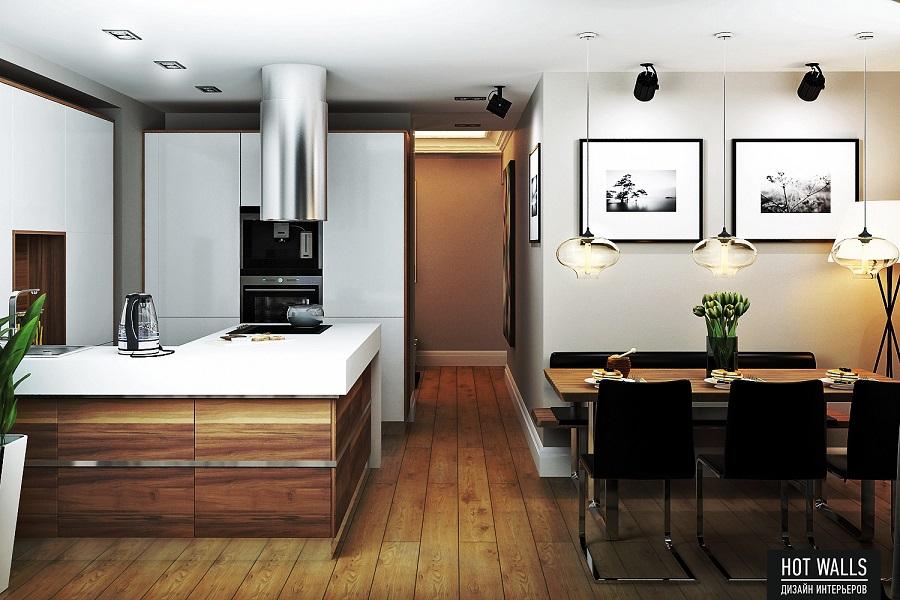 Дизайн проект квартиры в ЖК «Москва»: кухня