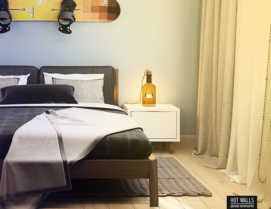Дизайн интерьера квартиры в ЖК «Времена года»: спальня