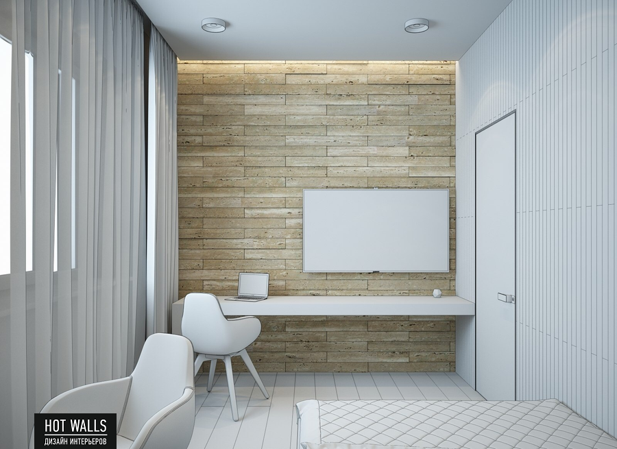 Дизайн интерьера дома в стиле Loft: эскиз кабинета