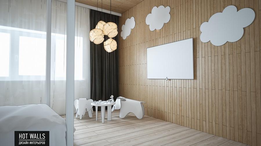 Дизайн интерьера дома в стиле Loft: эскиз детской комнаты