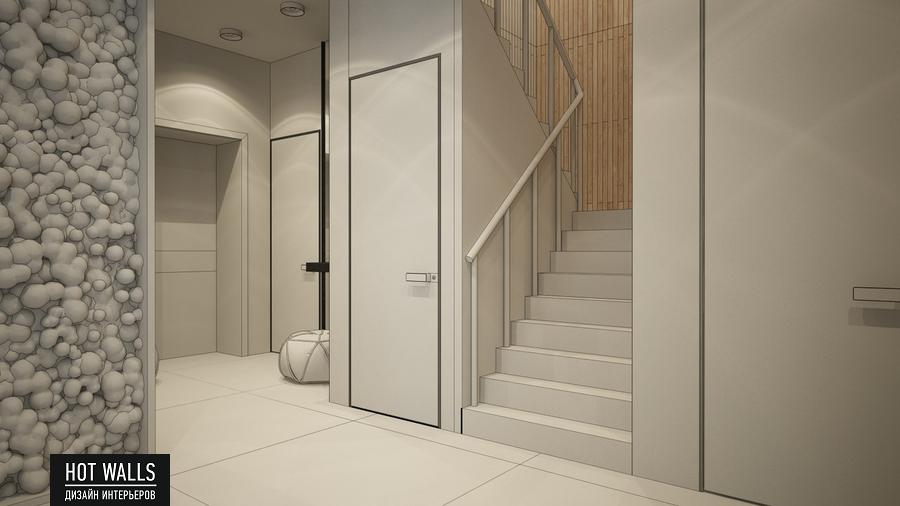Дизайн интерьера дома в стиле Loft: эскиз коридора
