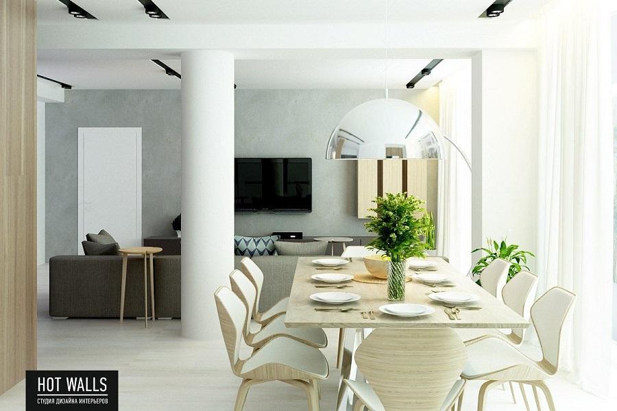 Дизайн коттеджа на Уралмаше: обеденный столик