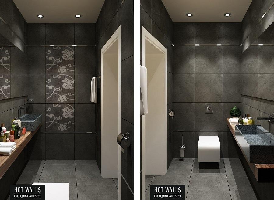 Дизайн коттеджа на Уралмаше: туалет
