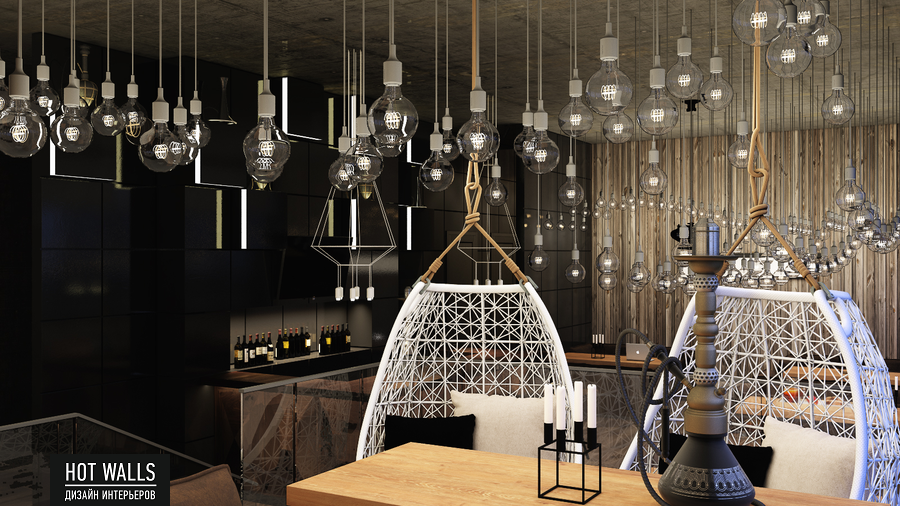 Дизайн интерьера бара-ресторана Tattler Bar