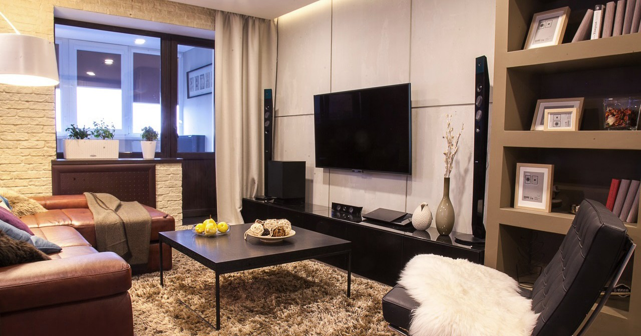 Дизайн интерьера 2-х комнатной квартиры, г. Екатеринбург, Вилонова 14а — Бетонная стена