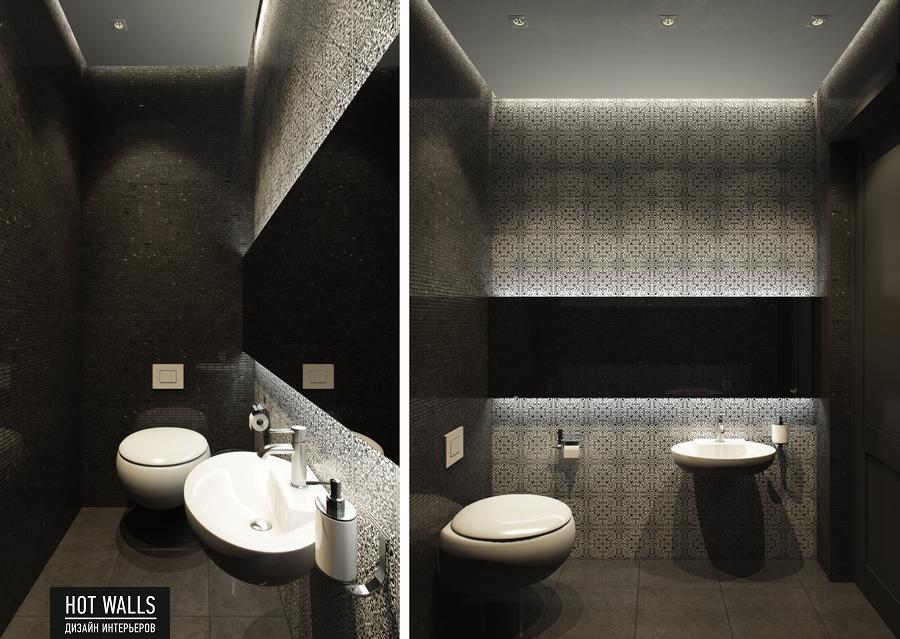 Дизайн интерьера бара-ресторана Tattler Bar: туалет