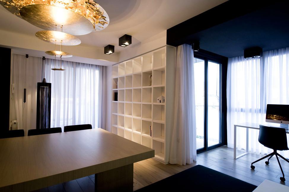 Дизайн в стиле хай-тек: гостиная