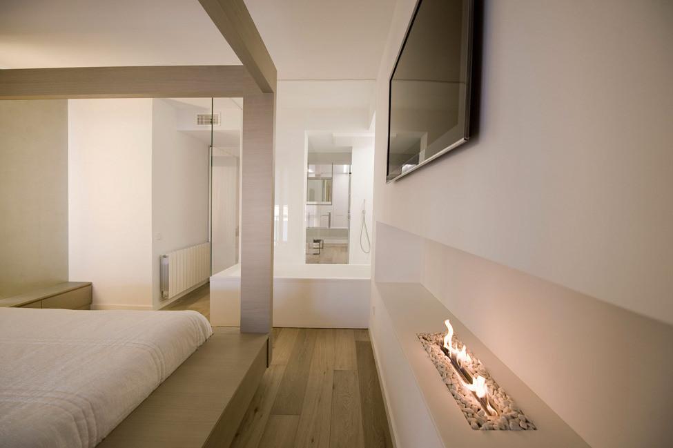 Дизайн в стиле хай-тек: спальня
