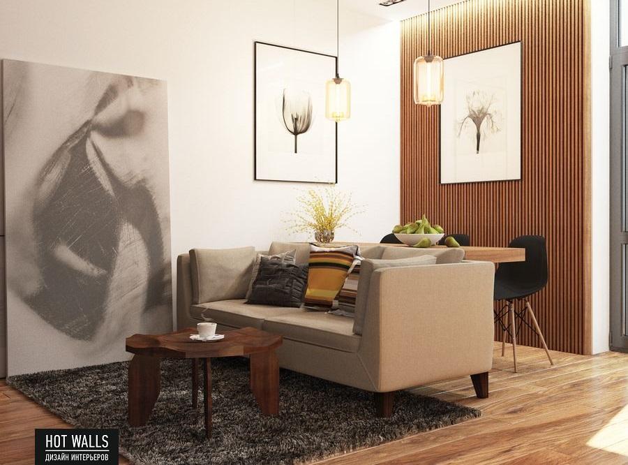 Дизайн интерьера 2-х комнатной квартиры в ЖК «Солнечный остров»: кухня
