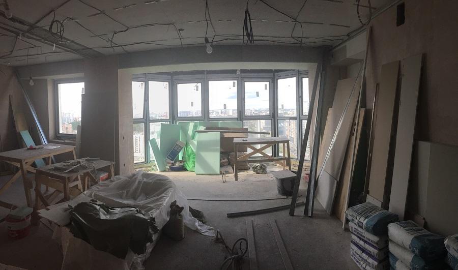 Дизайн интерьера 2-х комнатной квартиры, ЖК «Тихвин», г. Екатеринбург: середина ремонта