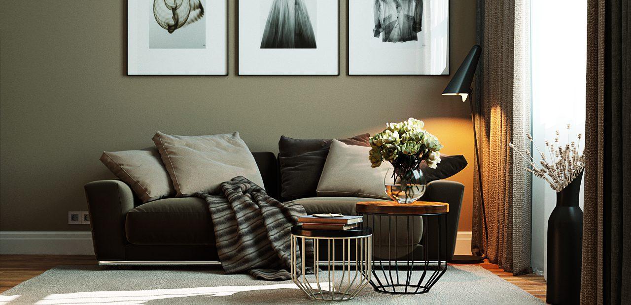 Дизайн интерьера 2-х комнатной квартиры в ЖК «Солнечный остров»
