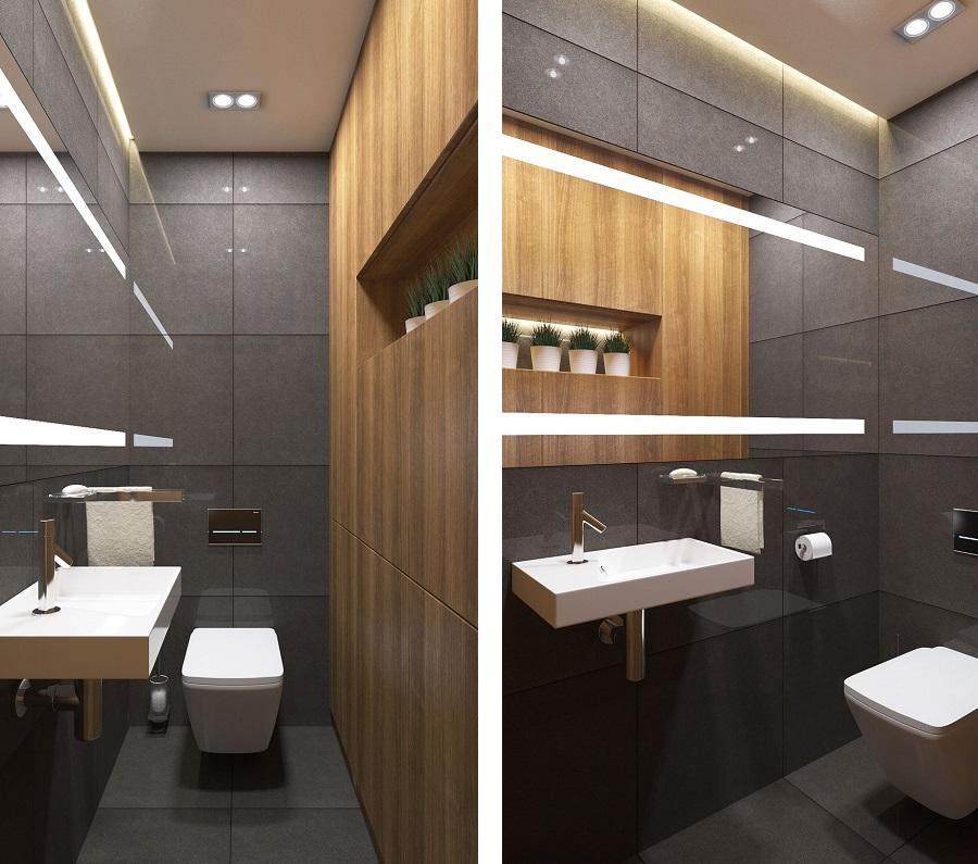 Дизайн интерьера 2-х комнатной квартиры в ЖК «Солнечный остров»: туалет