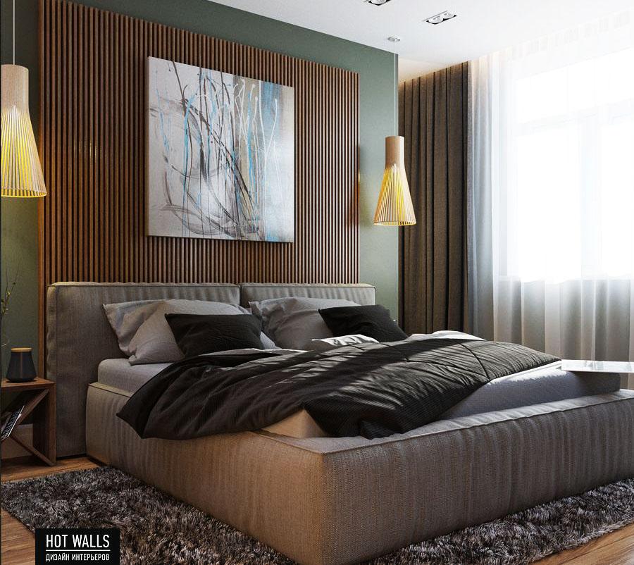 Дизайн интерьера 2-х комнатной квартиры в ЖК «Солнечный остров»: спальня